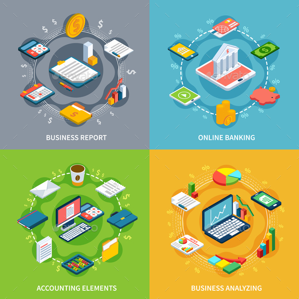 Online Accounting Design Concept - Concepts Business