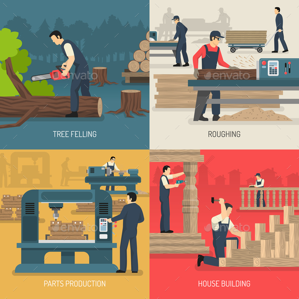 Wood Works Design Concept - Industries Business