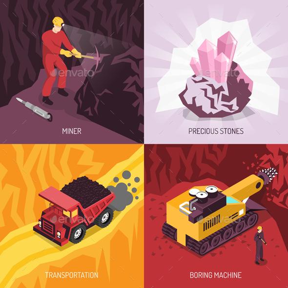 Gems Precious Stones Mining Concept - Industries Business
