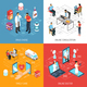 Online Doctor Isometric Medical Concept