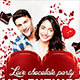 Valentine's Day Flyer | Chocolate Flyer | Chocolate Heart - GraphicRiver Item for Sale
