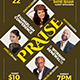 Praise Event Church Flyer
