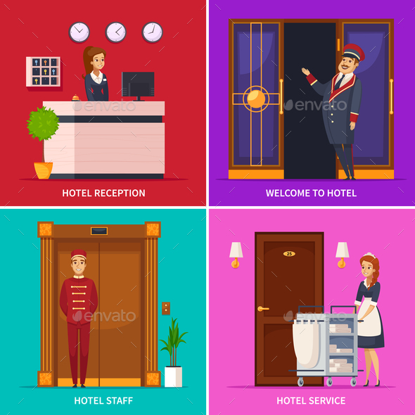 Hotel Staff 2x2 Design Concept - Travel Conceptual