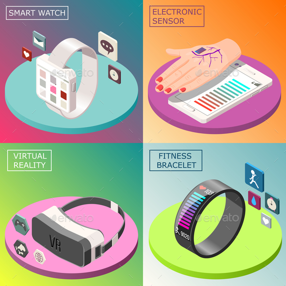 Portable Electronics Isometric Design Concept - Health/Medicine Conceptual