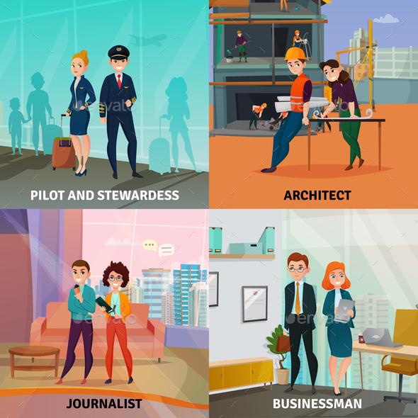 Professions Case Design Concept - Industries Business