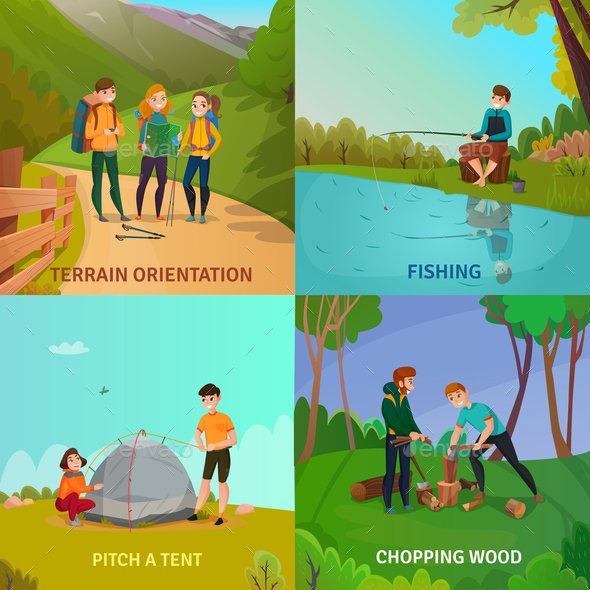 Camping People Design Concept - Sports/Activity Conceptual