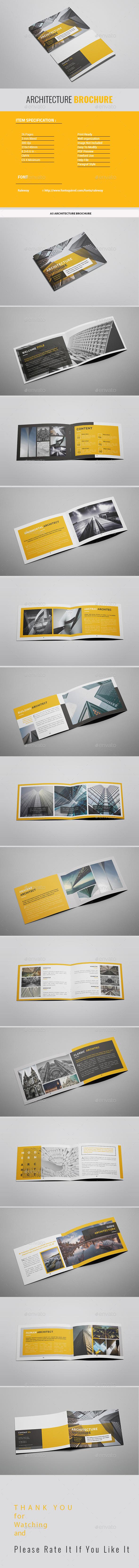 A5 Yellow Architecture Brochure - Portfolio Brochures