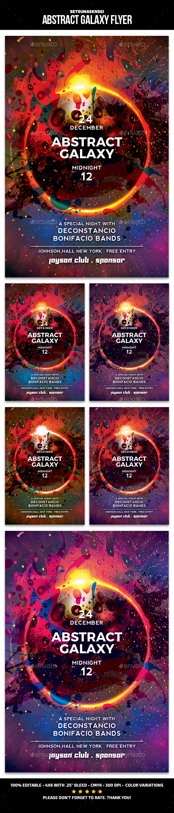 Abstract Galaxy Flyer - Events Flyers