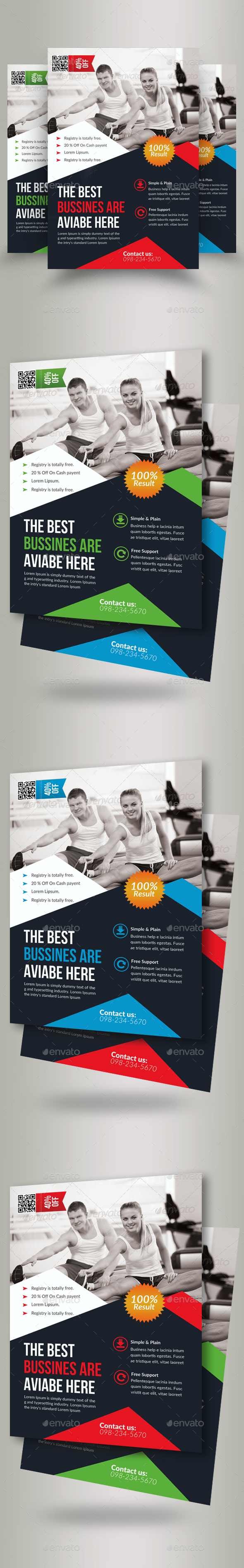 Body Fitness Gym Flyers - Flyers Print Templates