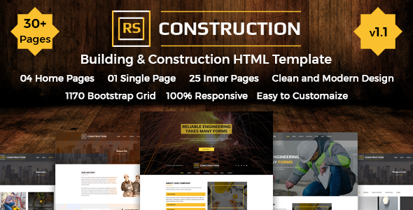 RS Construction - Construction & Building HTML Template