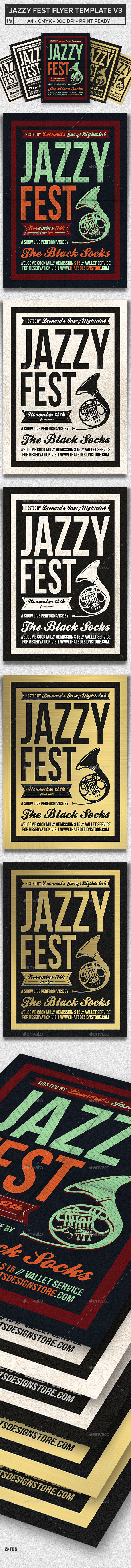 Jazzy Fest Flyer Template V3 - Concerts Events