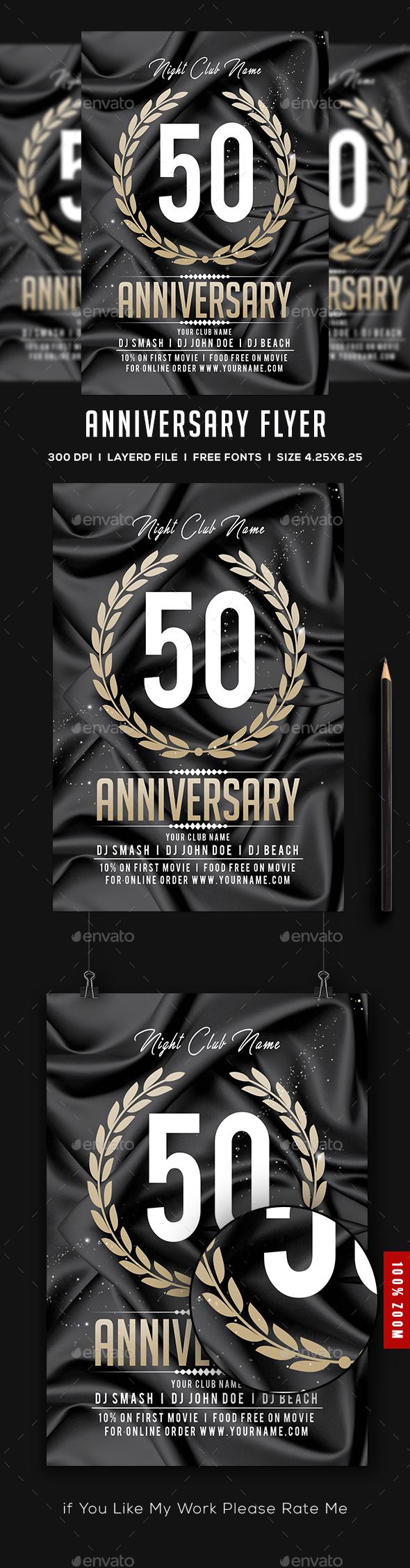 Anniversary Flyer - Flyers Print Templates
