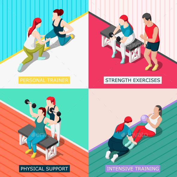 Personal Sport Trainer 2x2 Design Concept - Business Conceptual