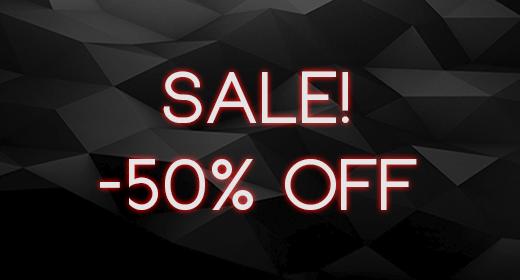 SALE -50% OFF!
