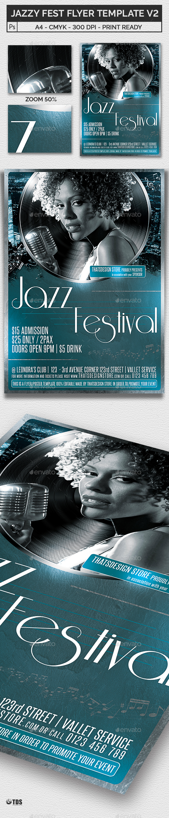 Jazzy Fest Flyer Template V2 - Concerts Events