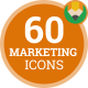 Marketing Icon Pack - Growth Hacking Flat Icons - VideoHive Item for Sale