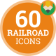 Railroad Icon Pack - Train Flat Icons - VideoHive Item for Sale