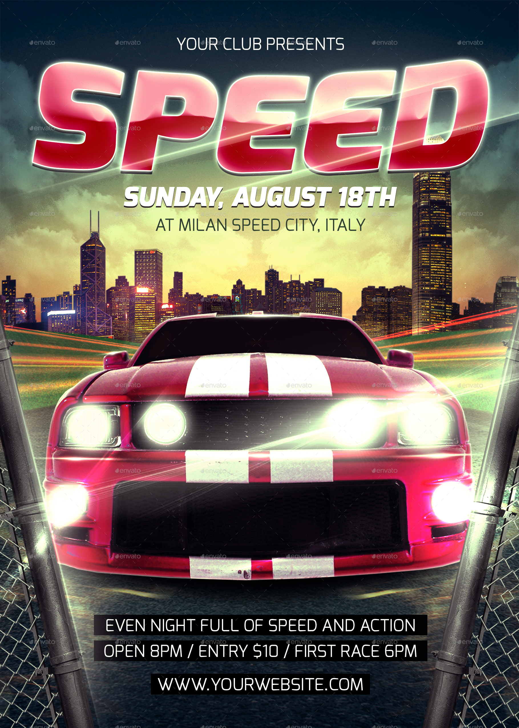 Speed Car Flyer Template ...  Car Flyer Template