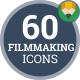 Icons Pack Director Star Actor Filmmaking Flat Animated Icons - VideoHive Item for Sale