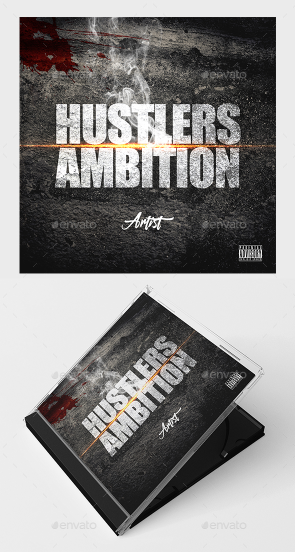 Hustlers Ambition Mixtape Cover - CD & DVD Artwork Print Templates
