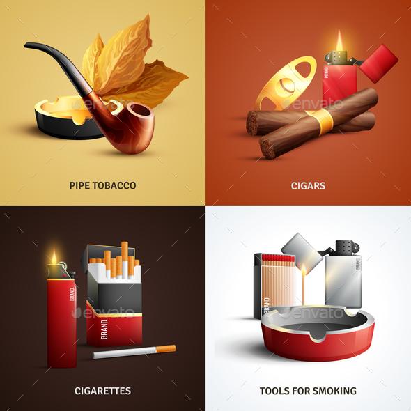 Tobacco Products Design Concept - Miscellaneous Vectors