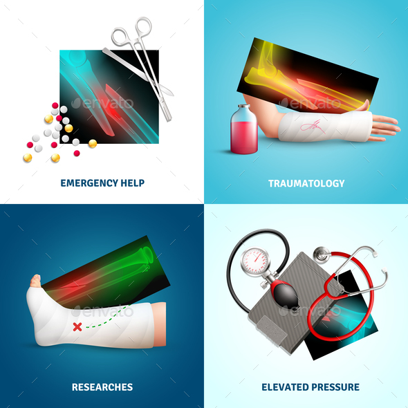 Medicine Trauma Design Concept - Health/Medicine Conceptual