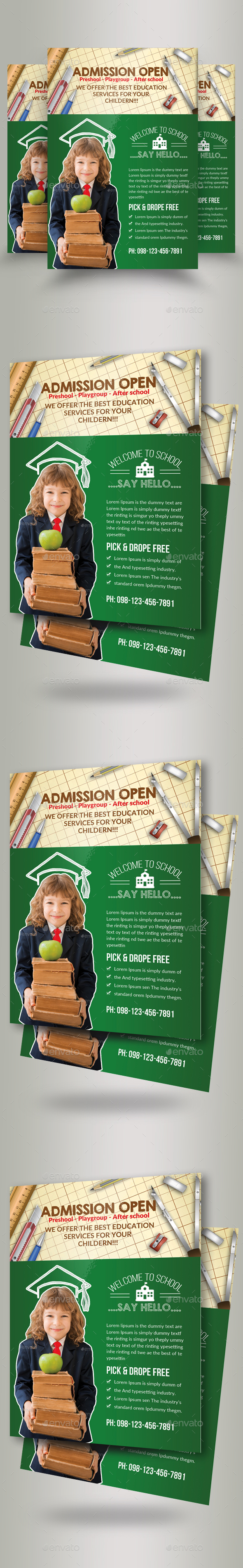 Admission Open School Flyers - Flyers Print Templates