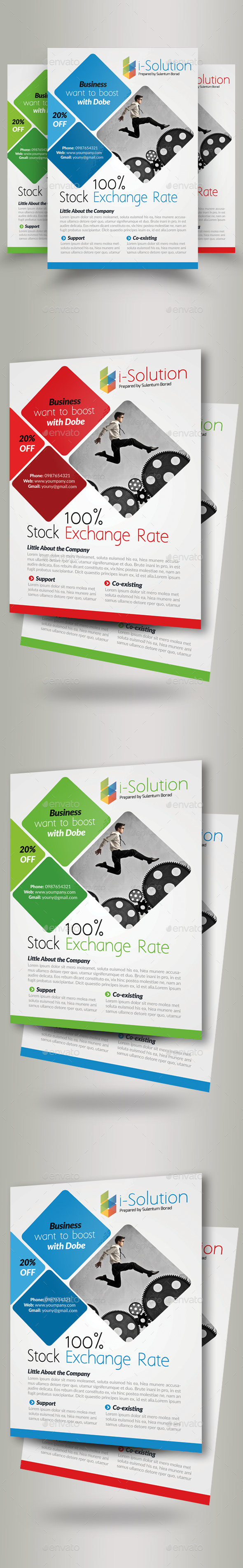 Business Strategy Flyers - Corporate Flyers