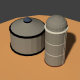 Low Poly Farm Silos - 3DOcean Item for Sale