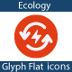 Ecology Flat glyph icons - GraphicRiver Item for Sale