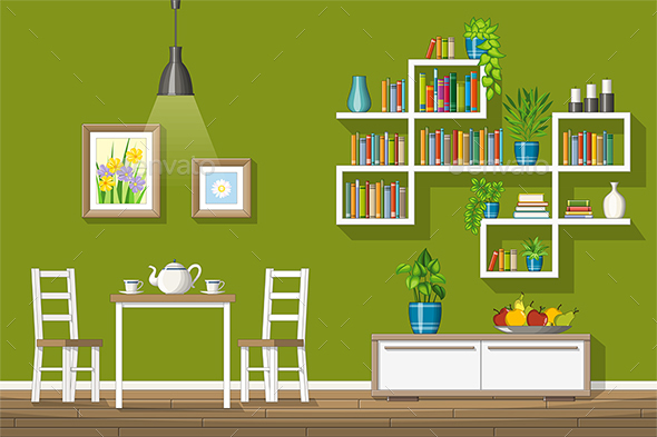 Modern Living Room - Miscellaneous Vectors