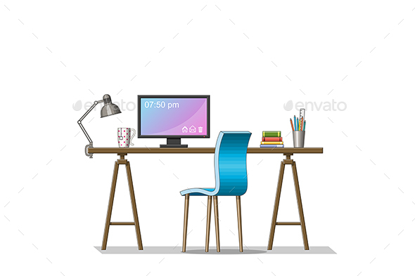 Modern Work Station - Miscellaneous Vectors
