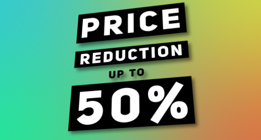 SALE! Price reduction up to 50%