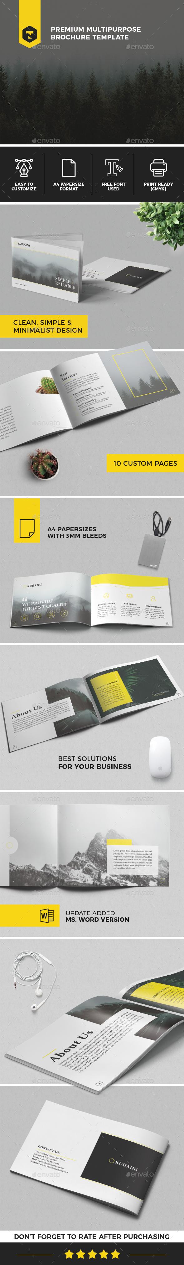 Multipurpose Corporate Brochure Template - Brochures Print Templates