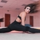 Beautiful Female Dancer Does the Splits at the Dancing Class, Attractive White Pole Dancer in Tight - VideoHive Item for Sale