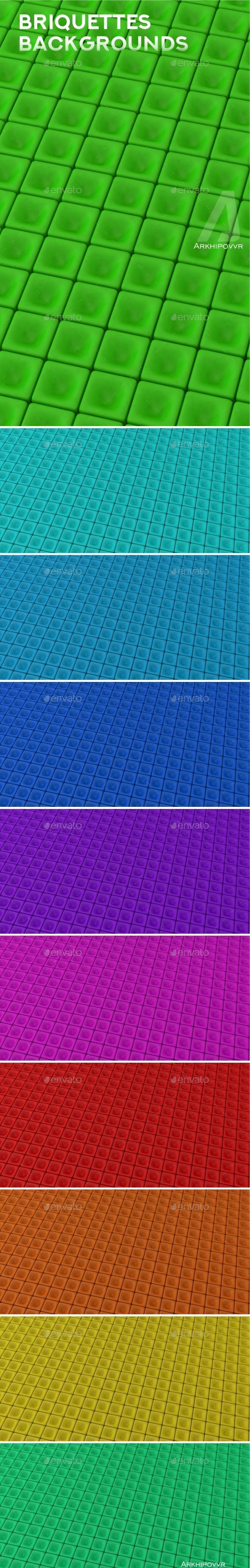 Briquettes Background - 3D Backgrounds