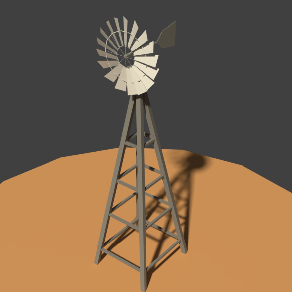 Low Poly Wind Mill - 3DOcean Item for Sale