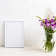 Small frame mockup with burdock flowers - PhotoDune Item for Sale