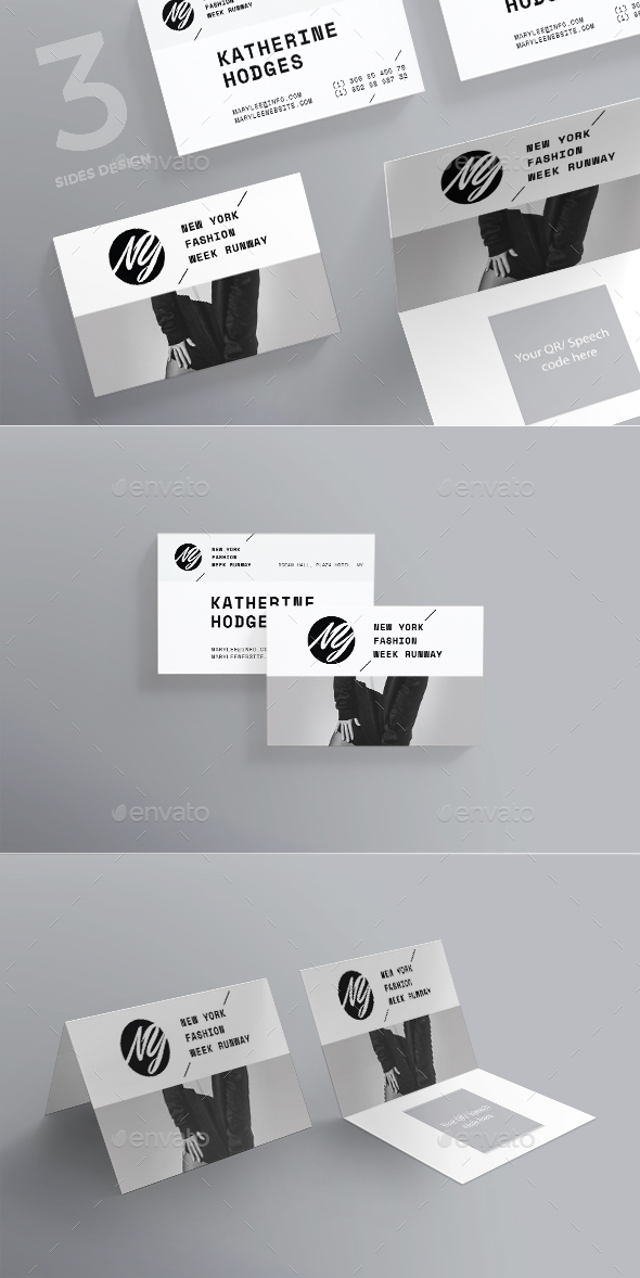 Fashion Week Business Card - Creative Business Cards