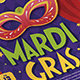 Modern Mardi Grass Flyer - GraphicRiver Item for Sale