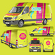 Photorealistic PSD Van Mockup - GraphicRiver Item for Sale