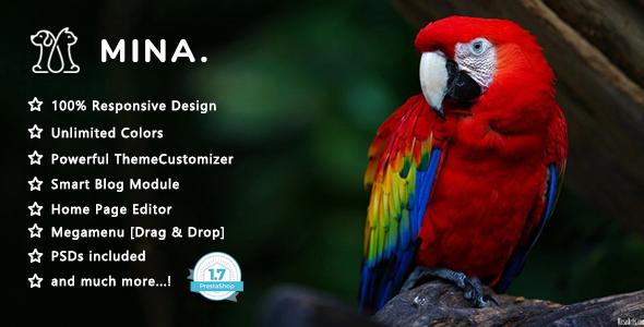 Mina - Pet Shop Responsive Prestashop 1.7 Theme
