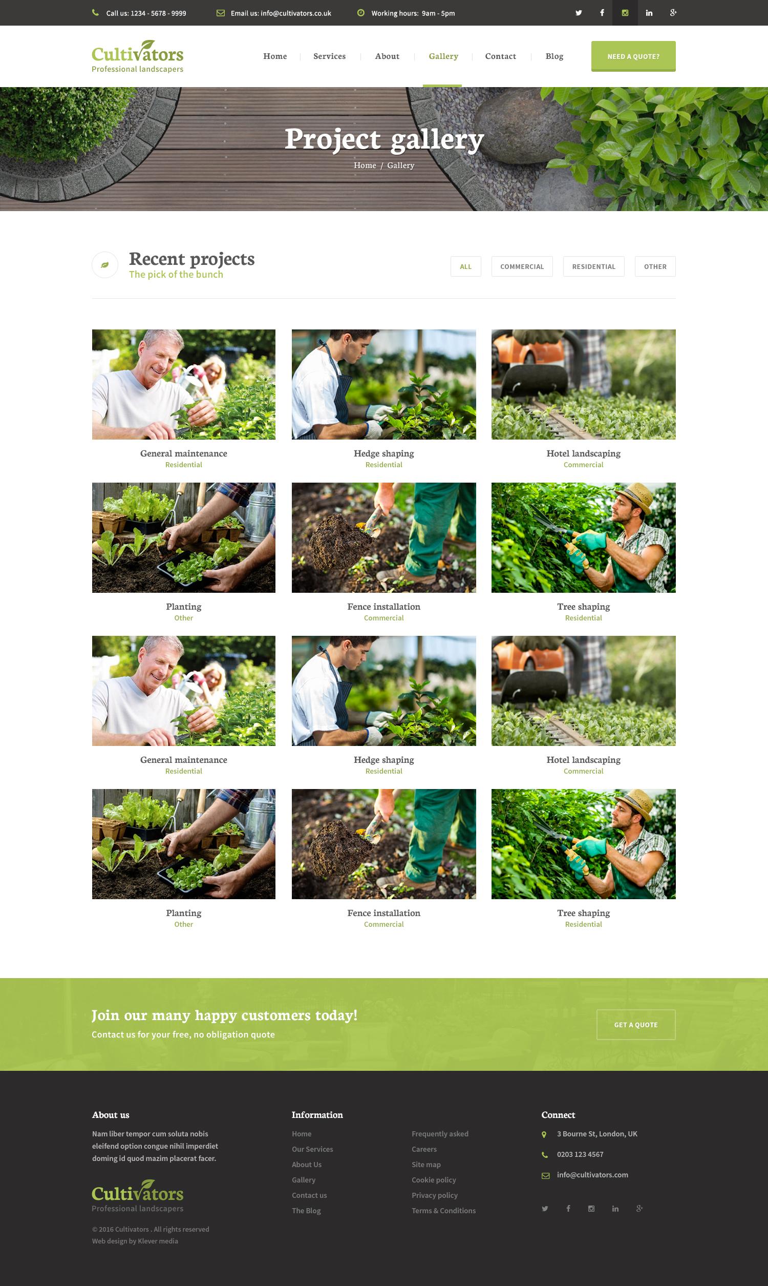 Cultivators   WordPress Gardening Design