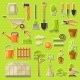 Set of Garden Tools and Items. Season Gardening - GraphicRiver Item for Sale