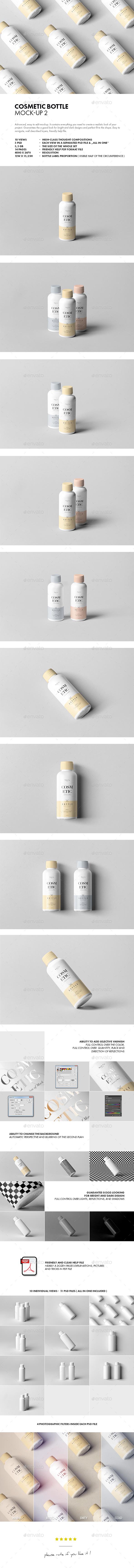 Cosmetic Bottle Mock-up 2 - Beauty Packaging