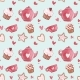 Seamless Patterns with Cup and Teapot. Pink - GraphicRiver Item for Sale