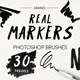 30 Real Marker Brushes - GraphicRiver Item for Sale