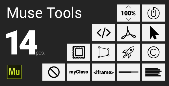Muse Tools 14 pcs. - CodeCanyon Item for Sale
