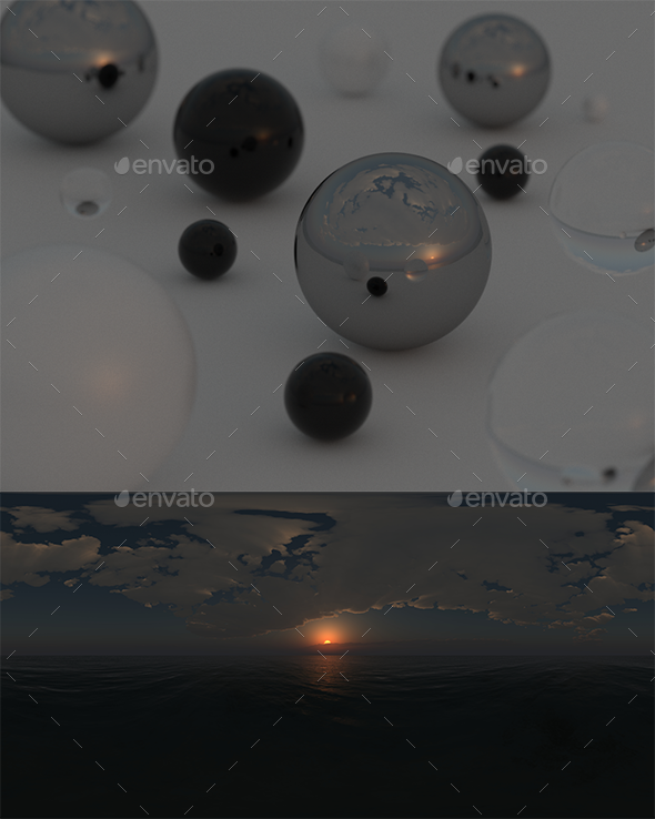 10 High Resolution Sky HDRi Maps Pack 020