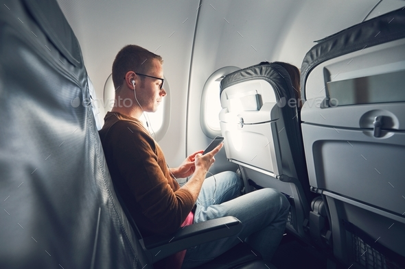 Connection in the airplane - Stock Photo - Images